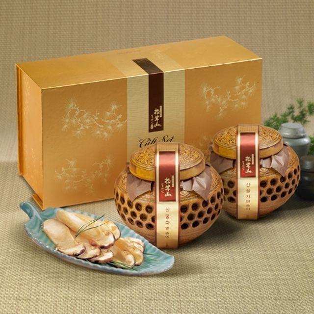 양양 산(山)꿀 자연송이 담은꿀(도자기) 600X2개