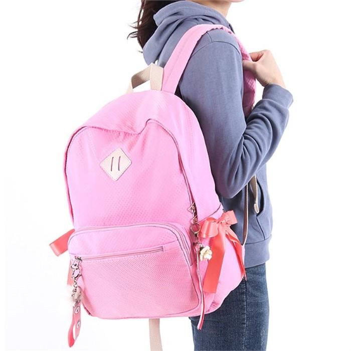 캐주얼 중학생 백팩 핑크 패션 고등학생 책가방