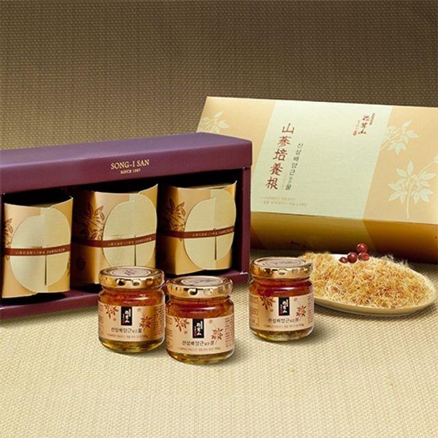 양양 산(山)꿀 산삼배양근 담은꿀 110gX3(유리병)