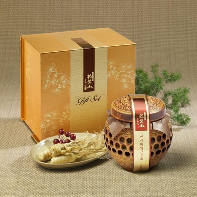 양양 산(山)꿀 산삼배양근 담은꿀(도자기) 400g