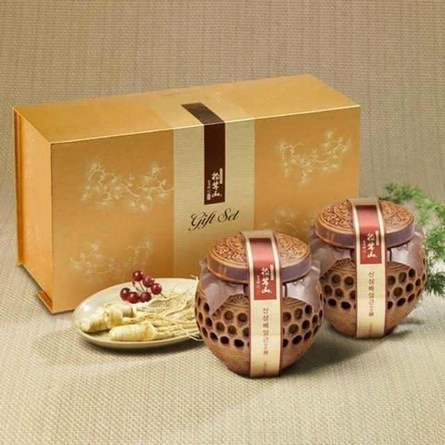 양양 산(山)꿀 산삼배양근 담은꿀(도자기) 400gX2개
