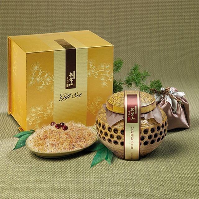 양양 산(山)꿀 산삼배양근 담은꿀(도자기) 600g