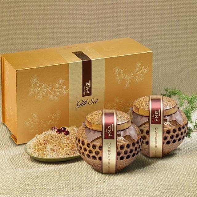 양양 산(山)꿀 산삼배양근 담은꿀(도자기) 600gX2