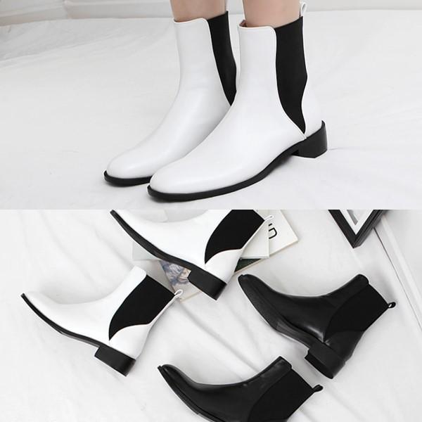 [애슬릿] 발 편한 둥근코 여성 첼시 부츠 3.5cm