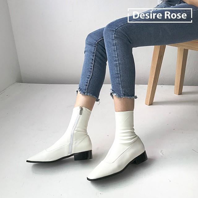 [디자이어로즈] 20대 30대 여성부츠 미들부츠 가죽부츠 1.5cm KRB0120