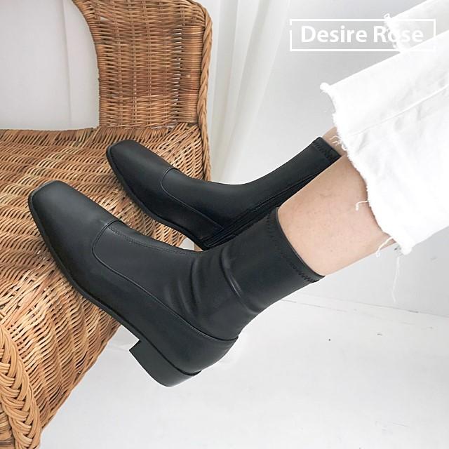 [디자이어로즈] 20대 30대 여자부츠 미들부츠 낮은굽 1.5cm KRB0120