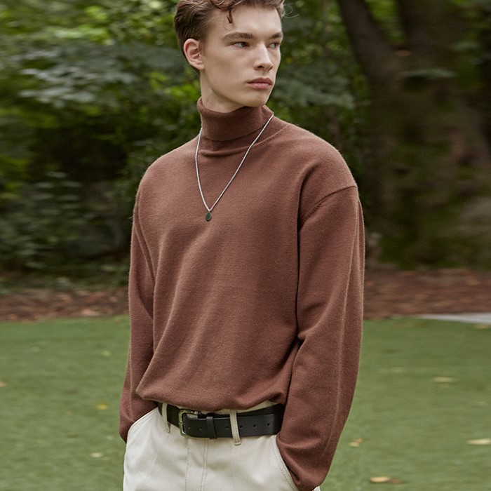 [DEANS] BLANKET TURTLE KNIT_BROWN
