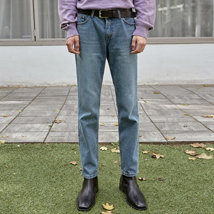 [DEANS] WASH LONG TAPERED JEAN_DENIM