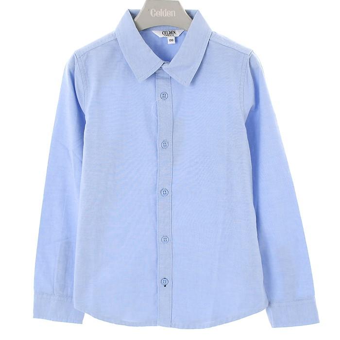 셀덴 NC02 베이직옥스퍼드셔츠 블루 EDYA20W01