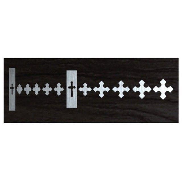 악기 스티커 Cross and Skull Cross-Metallic Type