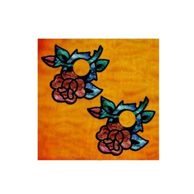 악기 스티커 Bridgeside and Knob Rose-Red