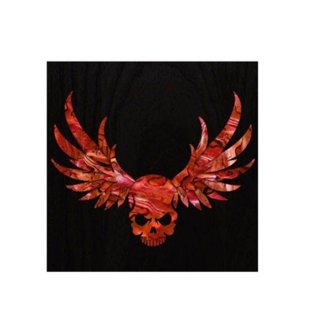 악기 스티커 Body Wing Skull-red