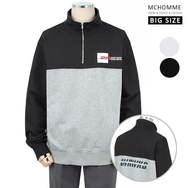 엠씨옴므 빅사이즈(~4XL) 데일리 프리 스타일 트레이닝 집업 티셔츠 BT19S105_B