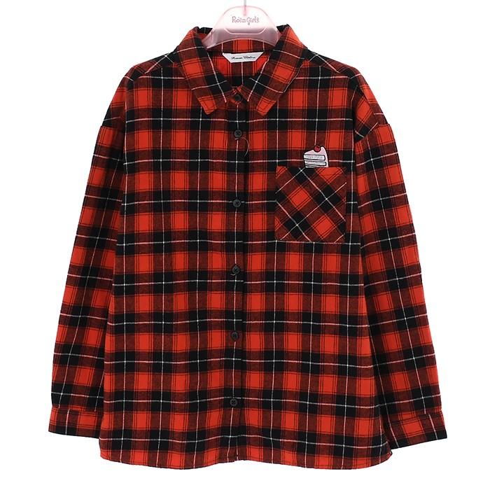 로엠걸즈 NC02 캐쥬얼체크 도톰 셔츠 RGBW19W1C