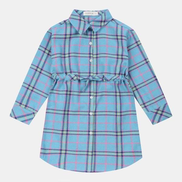 일로딜로 NC08 뉴 체크 롱 셔츠 IDYC20S01