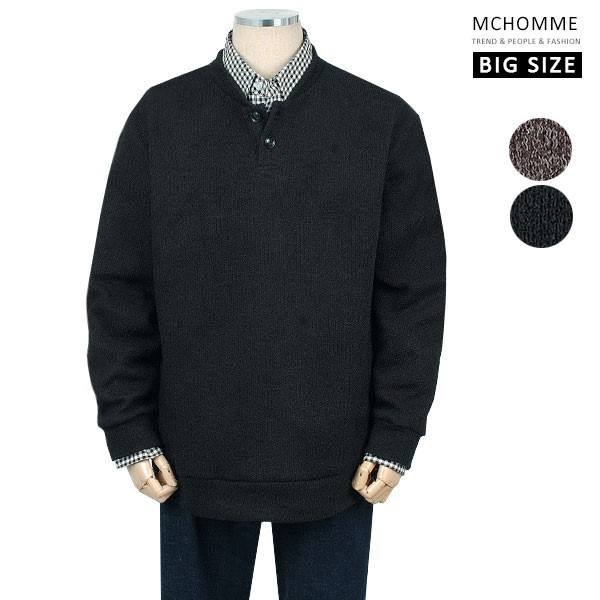 엠씨옴므 빅사이즈(~3XL) 포멀룩스타일 머스트아이템 니트 스웨터 PD19S102_B