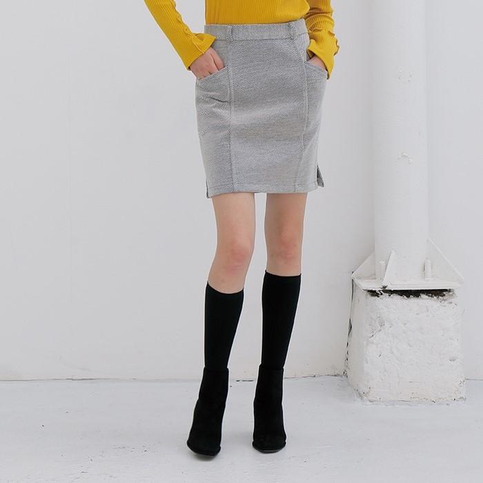[느와] Twill Skirt