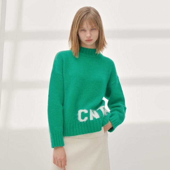 [느와] Logo Sweater