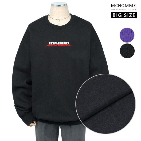 엠씨옴므 빅사이즈(~4XL) 데일리 덤블워싱 기모안감 맨투맨 티셔츠 SH19S124_B