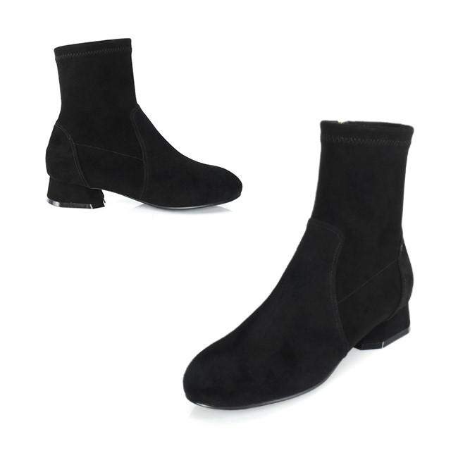 [쥬아나윤] 쥬아나윤 Low span boots 로우힐 가죽 스웨이드 삭스 앵클 부츠 수제화