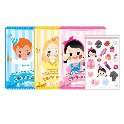 플로릿 어린이화장품 스티커 마스크팩 3종세트