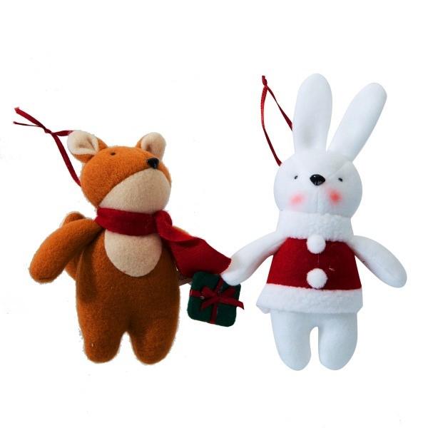 모던하우스 NC02 여우와 토끼 오너먼트 2P XG0519075