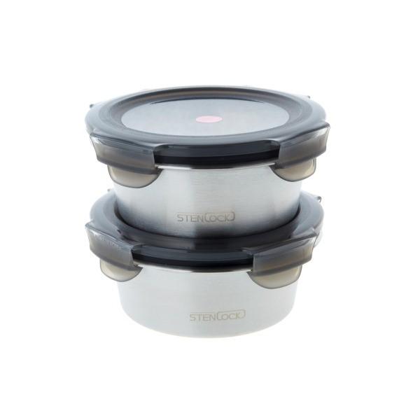 모던하우스 NC02 심플스텐밀폐용기원형1+1 KC0619001