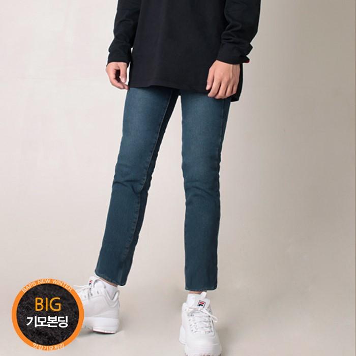 [밥스]   # K_3082 캣블러쉬 융털기모본딩팬츠