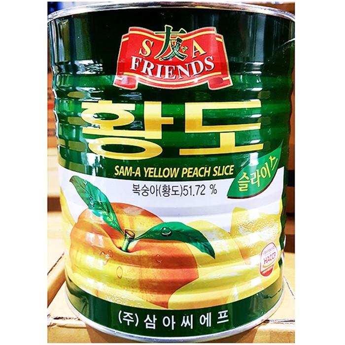 식재료 황도복숭아캔(슬 삼아 2.9K)