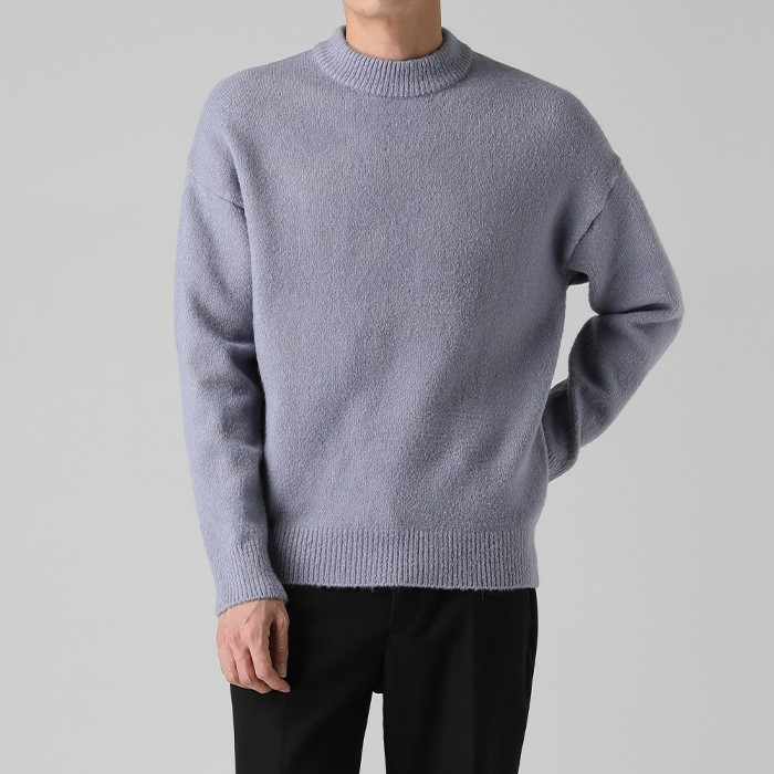 [티아그]  더블 넥 소프트 니트 (4col)