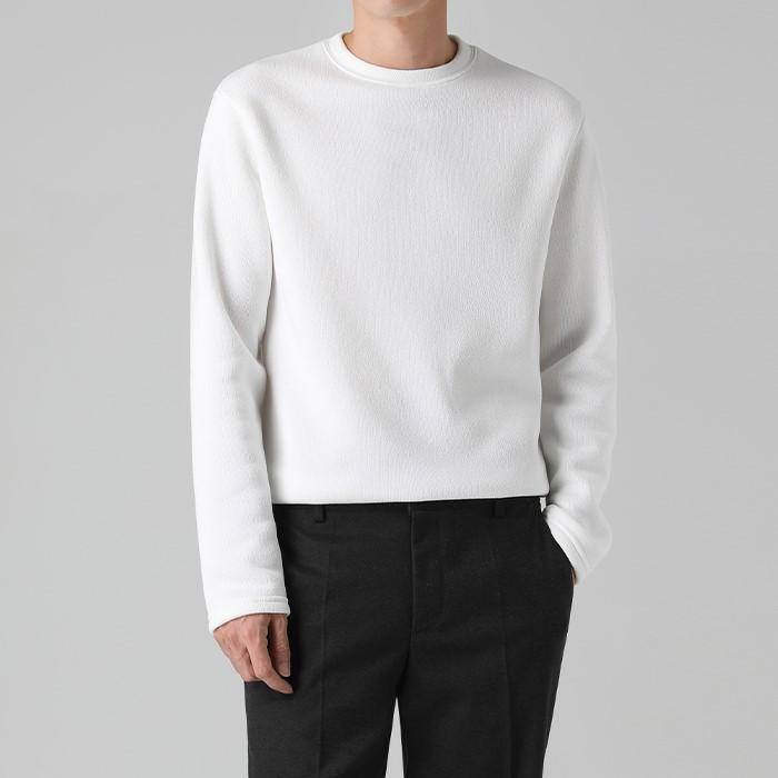 [티아그] 데일리 기모 니트 티셔츠 (5col)