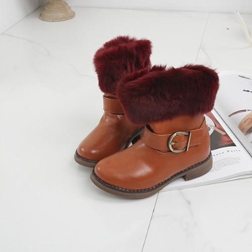 [한나] 아리엘 밍크털 여아부츠 겨울 주니어신발