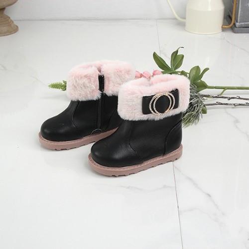 [한나] 일리나 여아 키즈앵클부츠 예쁜 아동겨울신발