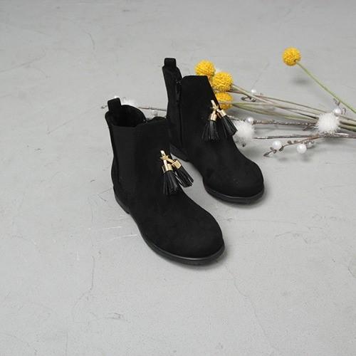 [한나] 셀디 태슬장식 키즈부츠 겨울 초등여아신발