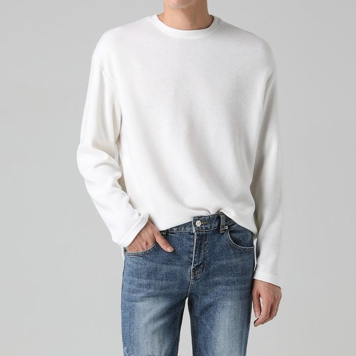 [티아그]  더블 울 슬라브 티셔츠 (4col)