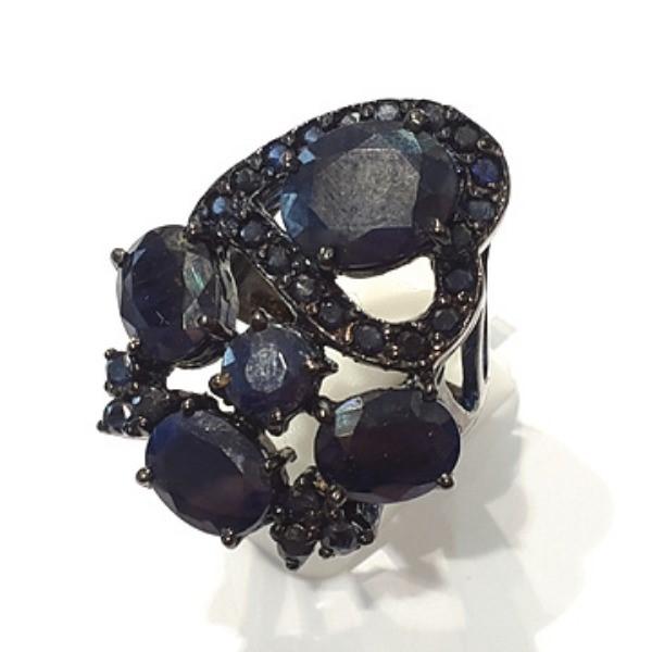 [블루케이] 사파이어 원석 반지 n191117-04러프엔틱