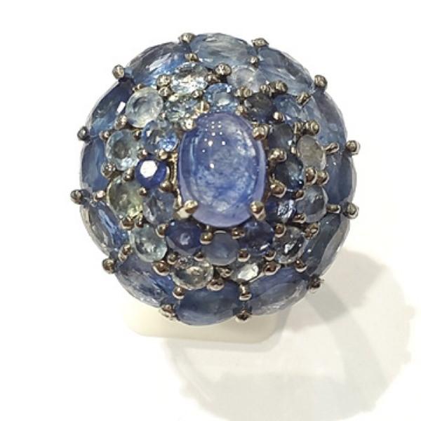 [블루케이] 사파이어 원석 반지 n191117-05러프엔틱