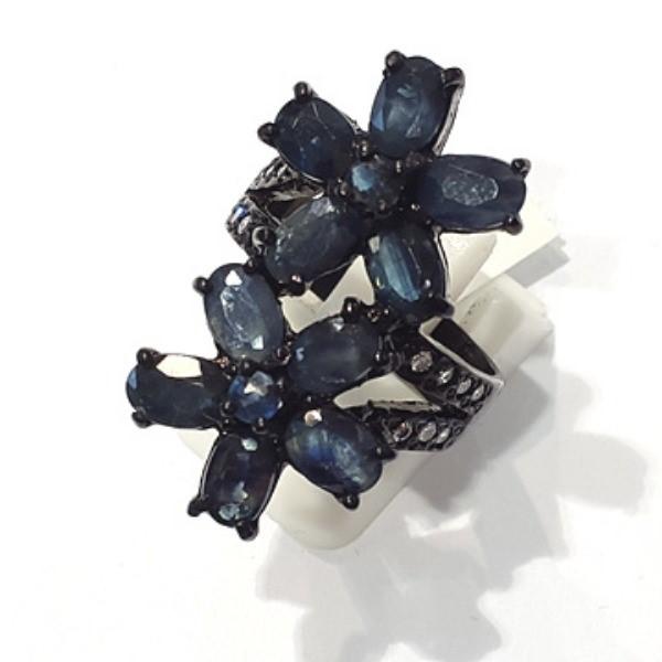 [블루케이] 사파이어 원석 반지 n191117-06러프엔틱