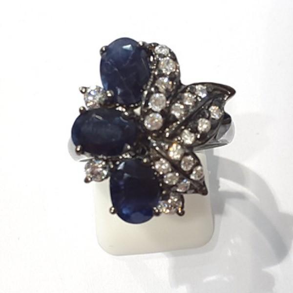 [블루케이] 사파이어 원석 반지 n191117-08러프엔틱