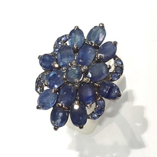 [블루케이] 사파이어 원석 반지 n191117-09러프엔틱