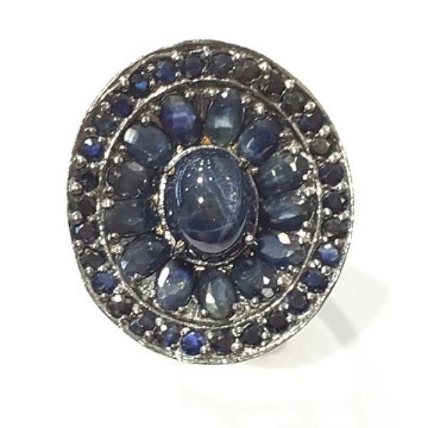 [블루케이] 사파이어 원석 반지 n191117-10러프엔틱