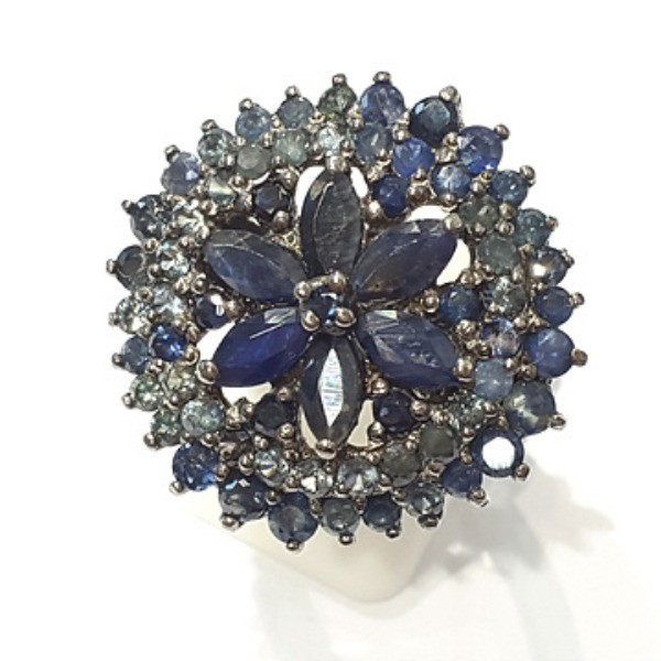 [블루케이] 사파이어 원석 반지 n191117-11러프엔틱