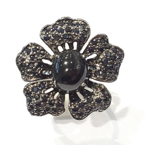 [블루케이] 사파이어 원석 반지 n191117-12러프엔틱