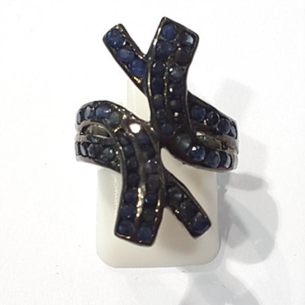 [블루케이] 사파이어 원석 반지 n191117-13러프엔틱