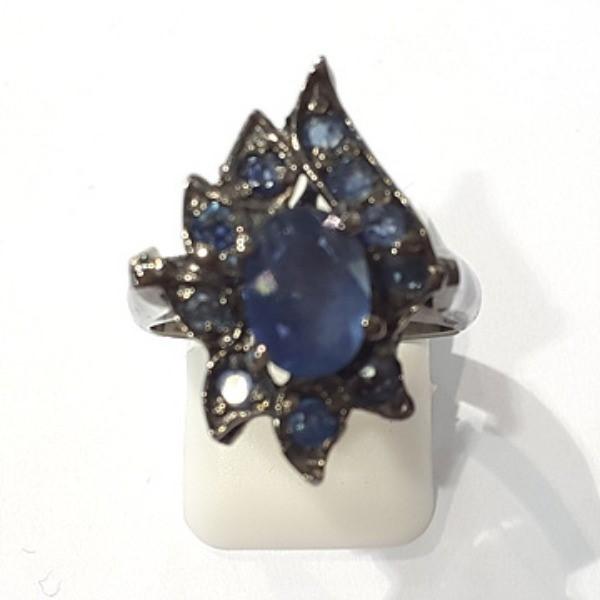 [블루케이] 사파이어 원석 반지 n191117-14러프엔틱