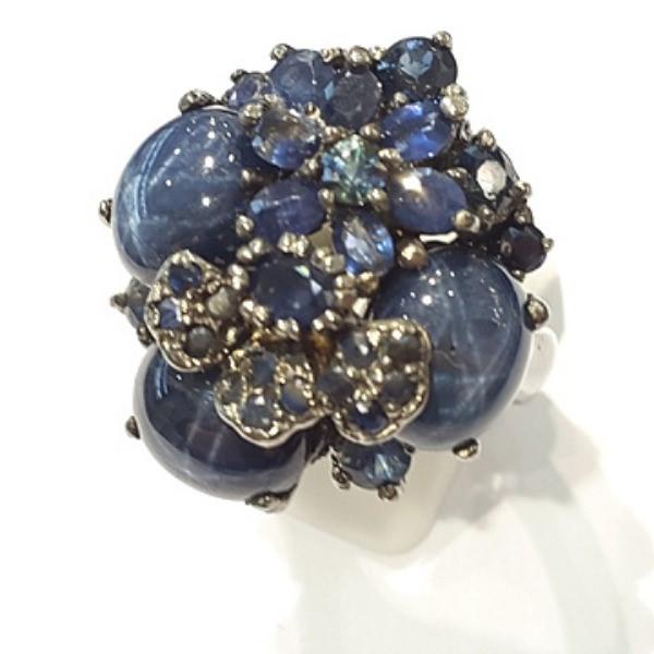 [블루케이] 사파이어 원석 반지 n191117-15러프엔틱