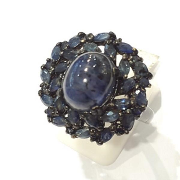 [블루케이] 사파이어 원석 반지 n191117-16러프엔틱