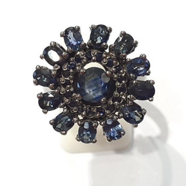 [블루케이] 사파이어 원석 반지 n191117-17러프엔틱