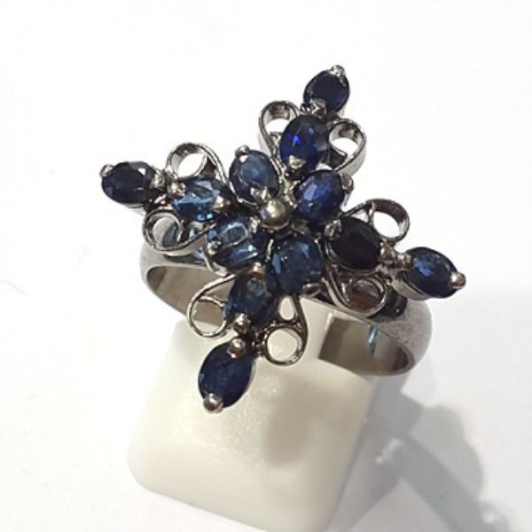 [블루케이] 사파이어 원석 반지 n191117-18러프엔틱