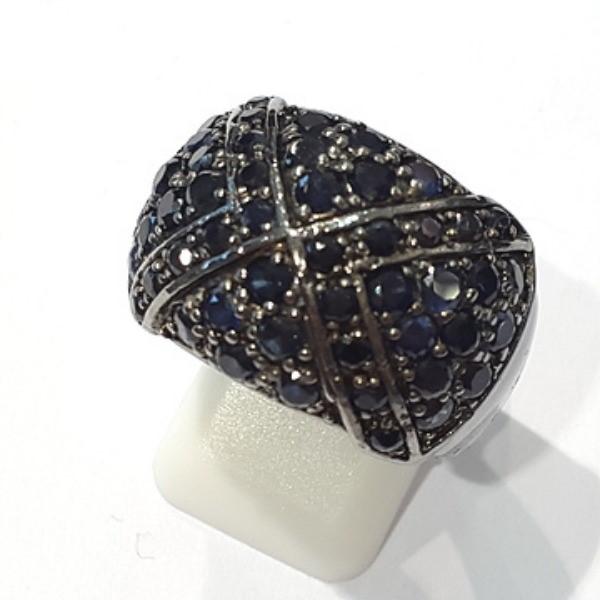 [블루케이] 사파이어 원석 반지 n191117-19러프엔틱